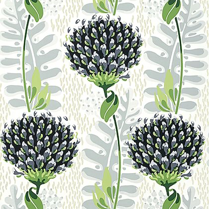 Thibaut Tiverton Wallpaper in Black